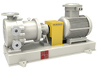 TICG(B)F no leakage fluorine lined high-temperature magnetic pump